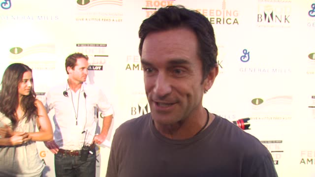 Jeff Probst on being a part of the night what performance he's most looking forward to at the 'Rock A Little Feed A Lot' Benefit Concert at Los...