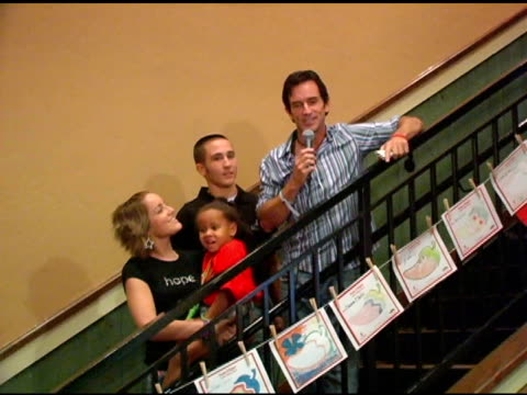 jeff probst on the chili's campaign and st jude's at the chili's create a pepper to benefit st jude children's research hospital at chili's... - chili's grill & bar stock videos and b-roll footage