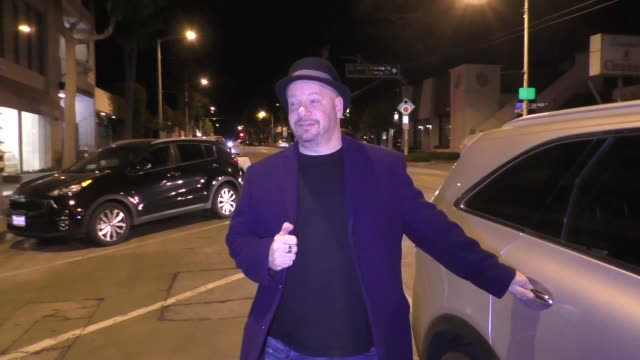 INTERVIEW Jeff Ross discusses Celebrity Redemption Roast idea outside Craig's in West Hollywood in Celebrity Sightings in Los Angeles