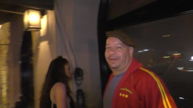 interview jeff ross discusses the next person to roast as he leaves a dinner date at craig's in west hollywood at celebrity sightings in los angeles... - roast dinner stock videos & royalty-free footage
