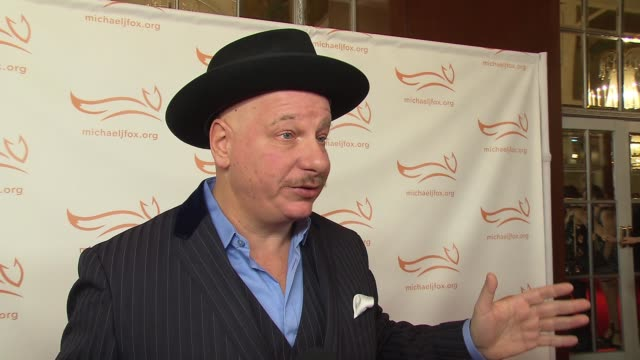 interview jeff ross on bringing levity to the evening supporting the cause and surprisingly not his mustache at 2015 a funny thing happened on the... - waldorf astoria new york stock videos & royalty-free footage