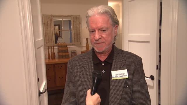 interview jeff salmon of les paul foundation on what brought him to the event his connection to hearing loss or tinnitus hearing health foundation... - sherman oaks stock videos & royalty-free footage
