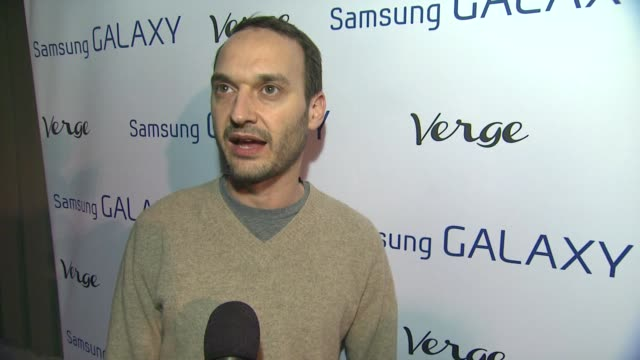 vidéos et rushes de interview jeff vespa on why he is here why launch the magazine and who he is shooting at the verge launch party in park city ut 01/19/13 - vespa
