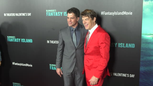 jeff wadlow and jason blum at the blumhouse's fantasy island premiere at amc century city 15 theater on february 10 2020 in century city california - century city stock videos & royalty-free footage