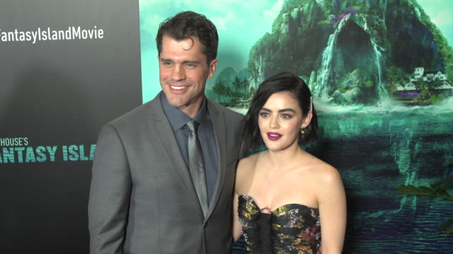 jeff wadlow and lucy hale at the blumhouse's fantasy island premiere at amc century city 15 theater on february 10 2020 in century city california - century city stock videos & royalty-free footage
