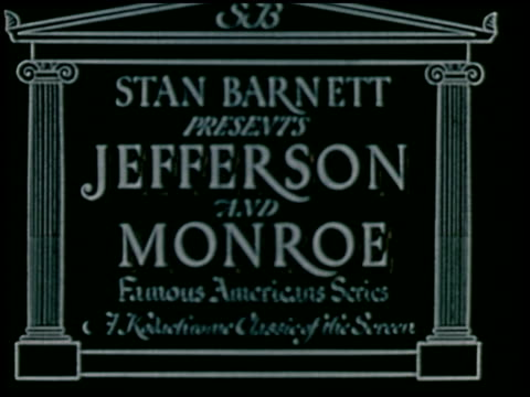 jefferson and monroe - 1 of 8 - thomas jefferson stock videos & royalty-free footage