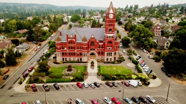 jefferson county courthouse in port townsend washington - stato di washington video stock e b–roll