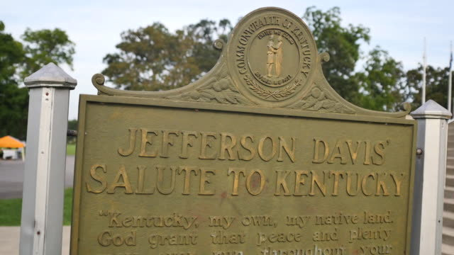 vidéos et rushes de jefferson davis who was the president of the confederate states of america during the american civil war a war fought over slavery and the secession... - armée des états confédérés