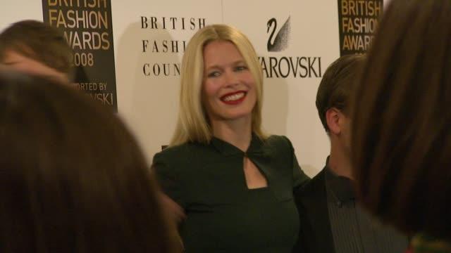 Jefferson Hack Claudia Schiffer Nicholas Kirkwood at the British Fashion Awards backstage at London