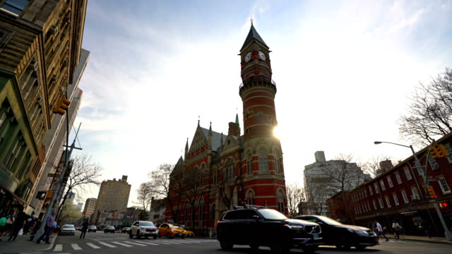 jefferson market library - turmuhr stock-videos und b-roll-filmmaterial