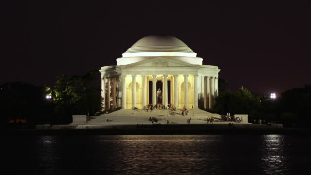 T/L WS Jefferson Memorial at night / Washington, DC, USA