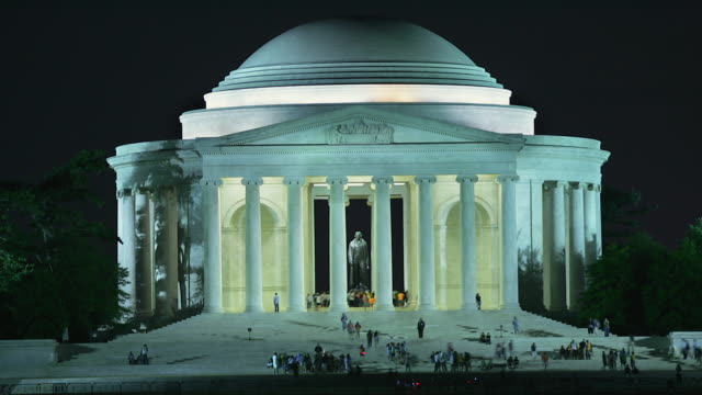 T/L WS Jefferson Memorial at night / Washington, DC, USA