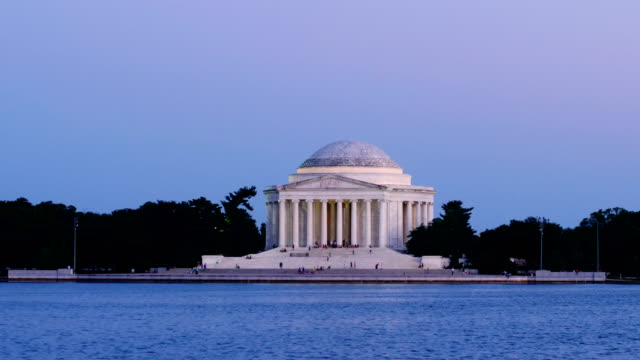jefferson memorial at sunset - dome stock videos & royalty-free footage