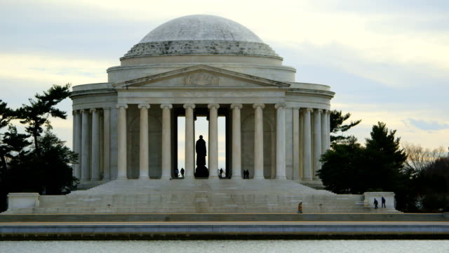 vidéos et rushes de jefferson memorial en hiver - jefferson memorial