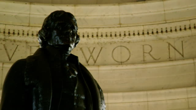 vidéos et rushes de statue de jefferson memorial - jefferson memorial