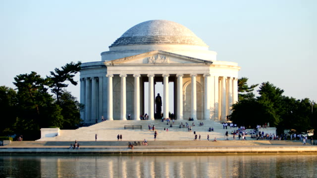jefferson memorial  - lincolndenkmal stock-videos und b-roll-filmmaterial