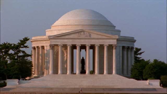 ms, jefferson memorial, washington dc, usa - jefferson memorial stock videos & royalty-free footage