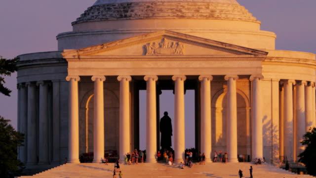 ジェファーソン記念館、ワシントンdc - ジェファーソン記念館点の映像素材/bロール