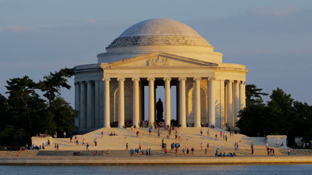 jefferson memorial, washington dc - jefferson memorial stock videos & royalty-free footage