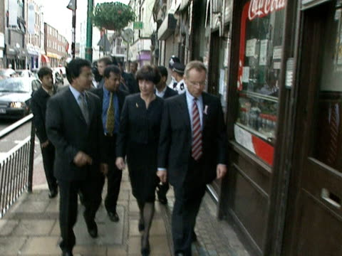Jeffrey and Mary Archer on campaign trail during Lord Archer's campaign to be elected Mayor of London 1999