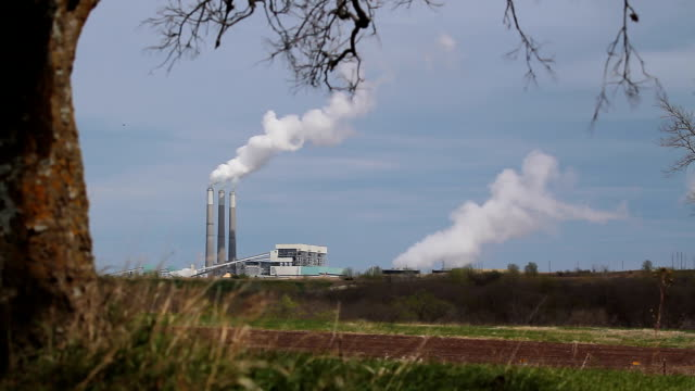 jeffrey kohle power plant - kansas stock-videos und b-roll-filmmaterial