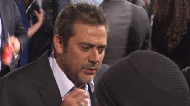 jeffrey dean morgan at the 'the losers' premiere at hollywood ca - neckwear stock videos and b-roll footage