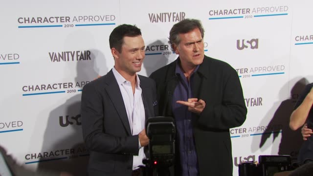 Jeffrey Donovan and Bruce Campbell at the 2nd Annual Character Approved Awards Cocktail Reception at New York NY