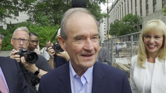 jeffrey epstein appears in manhattan federal court on sex trafficking charges on july 08 2019 note show here is attorney david boies representing... - trafficking stock videos & royalty-free footage