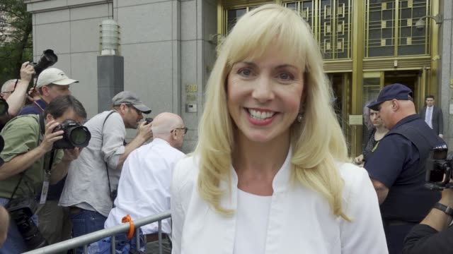 jeffrey epstein appears in manhattan federal court on sex trafficking charges on july 08 2019 note lawyer sigrid mccawley speaks following the... - verurteilung stock-videos und b-roll-filmmaterial