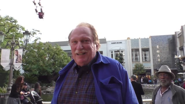 interview jeffrey jones talks about the mcdonald's mcrib while shopping at the grove in hollywood in celebrity sightings in los angeles - mcdonald's stock videos and b-roll footage