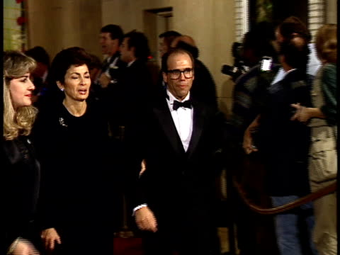vídeos de stock, filmes e b-roll de jeffrey katzenberg and wife marilyn katzenberg walking down red carpet - american film institute