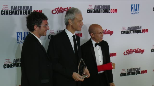 jeffrey katzenberg eric nebot and rick nicita at the 29th annual american cinematheque award presented to reese witherspoon at the hyatt regency... - american cinematheque stock videos & royalty-free footage