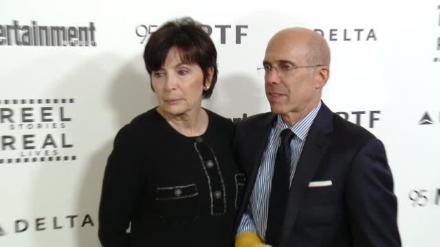 jeffrey katzenberg marilyn katzenberg at 5th annual reel stories real lives benefiting the motion picture television fund in los angeles ca - motion picture & television fund stock videos & royalty-free footage