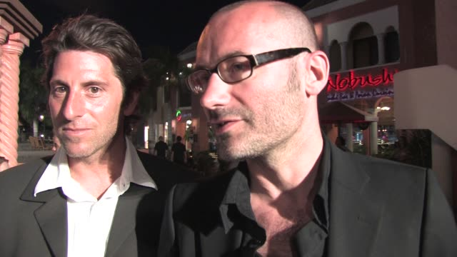 stockvideo's en b-roll-footage met jeffrey saunders and olivier l_cot on being at the aruba film festival on new york on the film being autobiographical on working together at the a ny... - autobiografie