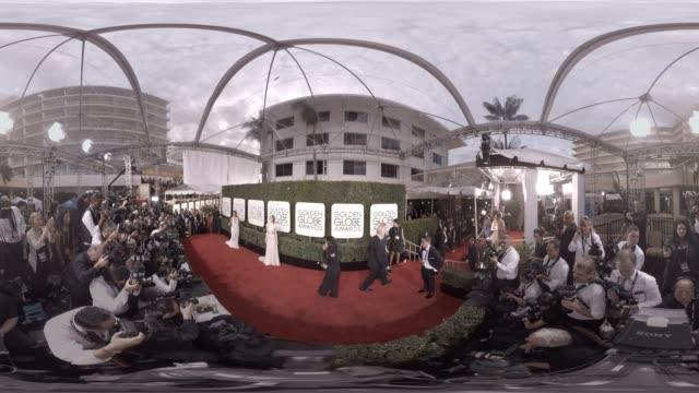 jeffrey tambor and emma stone at the 74th annual golden globe awards - 360 - jeffrey tambor stock videos & royalty-free footage