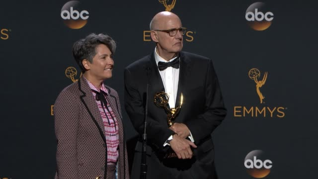 INTERVIEW Jeffrey Tambor and Jill Soloway at the 68th Annual Primetime Emmy Awards Press Room at Microsoft Theater on September 18 2016 in Los...