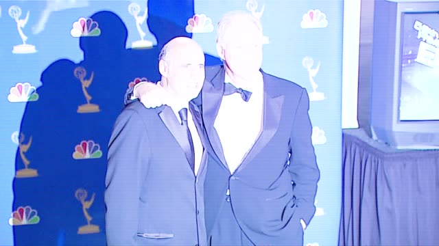jeffrey tambor and john lithgow, presenters at the 2006 emmy awards press room at the shrine auditorium in los angeles, california on august 27, 2006. - jeffrey tambor stock videos & royalty-free footage