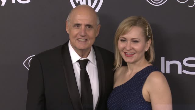 jeffrey tambor and kasia ostlun at 18th annual instyle and warner bros pictures golden globes afterparty at the beverly hilton hotel on january 08... - ゴールデングローブ賞点の映像素材/bロール
