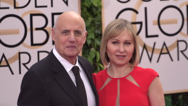 jeffrey tambor and kasia ostlun at 73rd annual golden globe awards - arrivals at the beverly hilton hotel on january 10, 2016 in beverly hills,... - the beverly hilton hotel stock videos & royalty-free footage