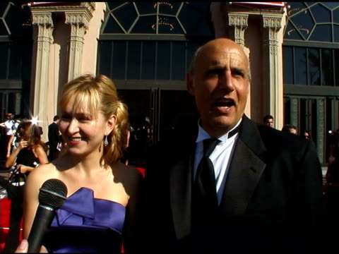 jeffrey tambor and wife kasia at the 2004 emmy creative arts awards red carpet at the shrine auditorium in los angeles, california on september 12,... - jeffrey tambor stock videos & royalty-free footage