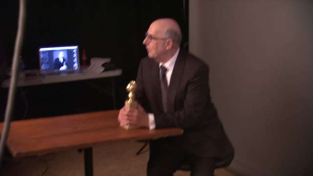 jeffrey tambor at 72nd annual golden globe awards - backstage at the beverly hilton hotel on january 11, 2015 in beverly hills, california. - jeffrey tambor stock videos & royalty-free footage