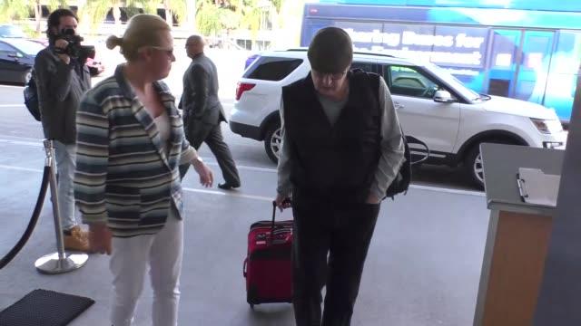 jeffrey tambor departing at lax airport in los angeles in celebrity sightings in los angeles, - jeffrey tambor stock videos & royalty-free footage