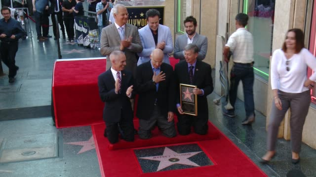 jeffrey tambor, mitchell hurwitz, joe lewis, and more at the jeffrey tambor star on the hollywood walk of fame on august 8, 2017 in hollywood,... - jeffrey tambor stock videos & royalty-free footage
