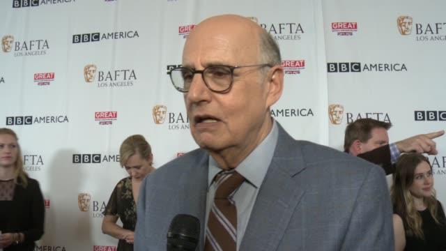jeffrey tambor on the bafta tea party, on the impact bafta has on entertainment and the hollywood community, on the emmys at bafta los angeles bbc... - jeffrey tambor stock videos & royalty-free footage