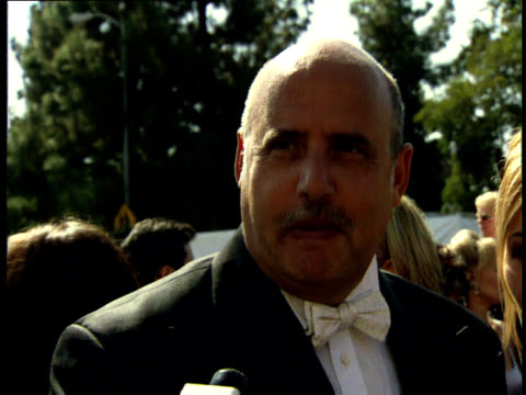 jeffrey tambor talks to reporters on the red carpet at the 50th annual emmy awards. - jeffrey tambor stock videos & royalty-free footage
