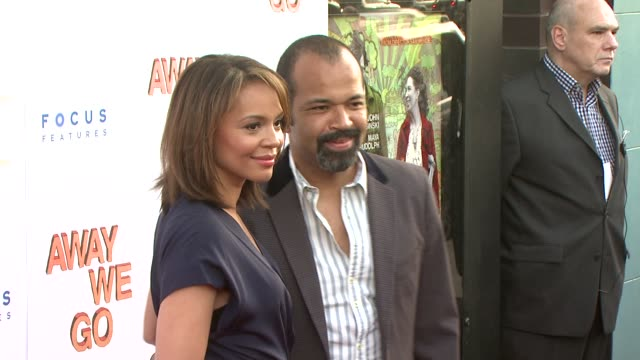jeffrey wright and carmen ejogo at the 'away we go' screening at new york ny - away we go video stock e b–roll