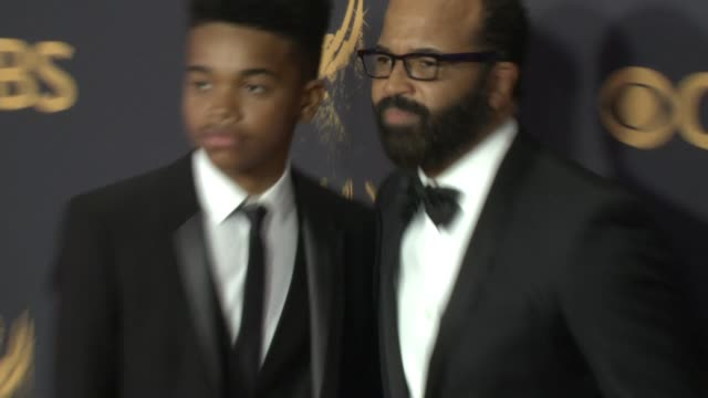 jeffrey wright at the 69th annual primetime emmy awards at microsoft theater on september 17, 2017 in los angeles, california. - annual primetime emmy awards stock-videos und b-roll-filmmaterial