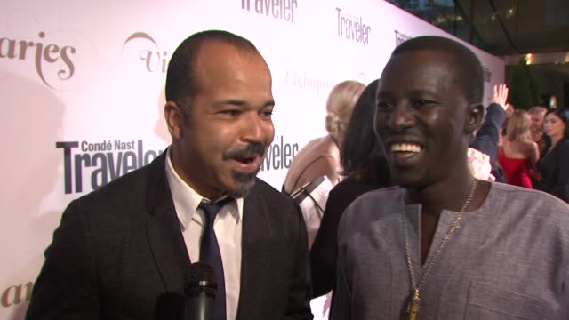 Jeffrey Wright Okello Sam on what inspires him at Conde Nast Traveler Celebrates 'The Visionaries' And 25 Years Of Truth In Travel in New York...