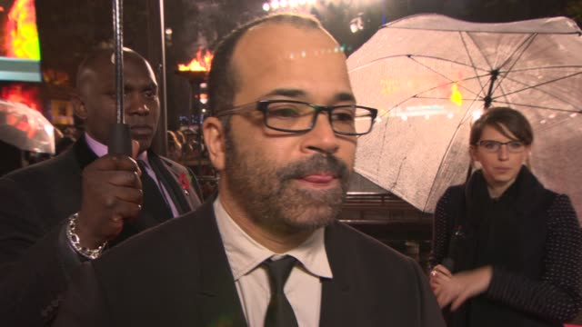 INTERVIEW Jeffrey Wright on fans of 'The Hunger Games' at 'The Hunger Games Catching Fire' Premiere on November 11 2013 in London England