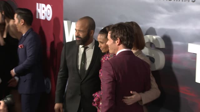 Jeffrey Wright Thandie Newton Evan Rachel Wood and James Marsden at the 'Westworld' Season 2 Premiere at ArcLight Cinerama Dome on April 16 2018 in...